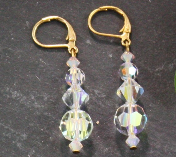 Audrey Crystal Aurora Borealis Earrings