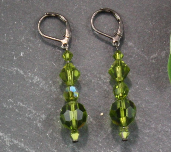 Audrey Olivine Green Earrings