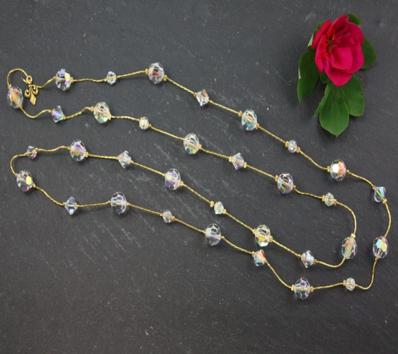 Audrey Crystal Aurora Borealis Necklace