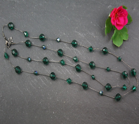 Audrey Emerald Green Necklace