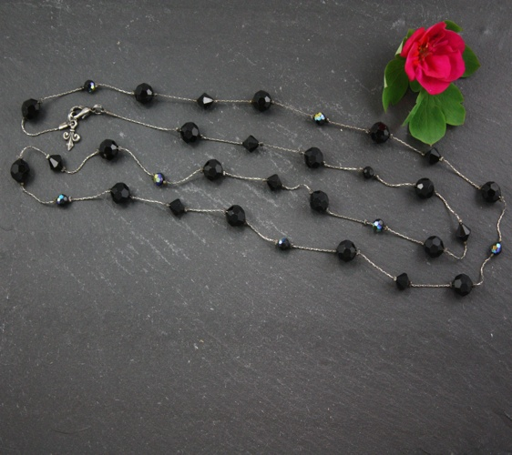 Audrey Jet Black Necklace