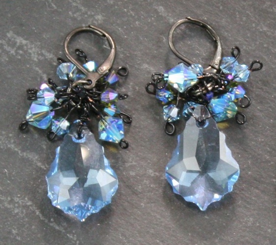 Anna Aquamarine Light Blue Earrings