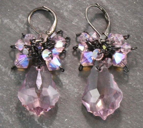 Anna Light Amethyst Pink Earrings