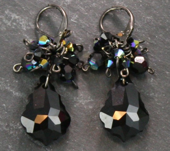 Anna Jet Black Earrings