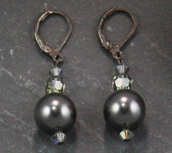 Coco Charcoal Grey Earring
