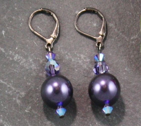 Coco Purple Earrings