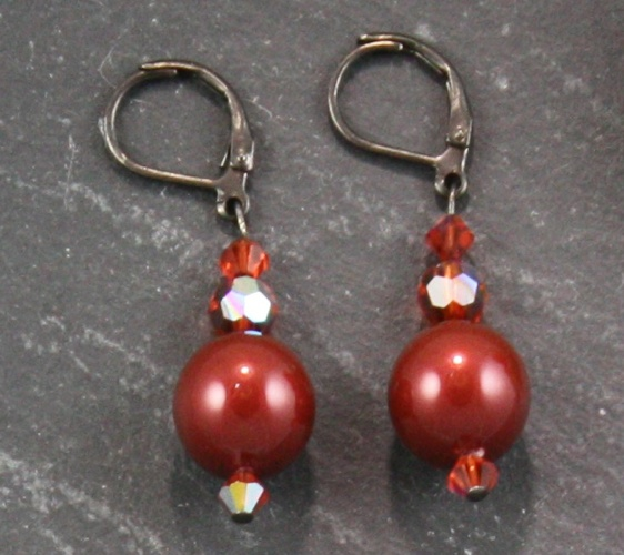 Coco Indian Rust Red Earrings