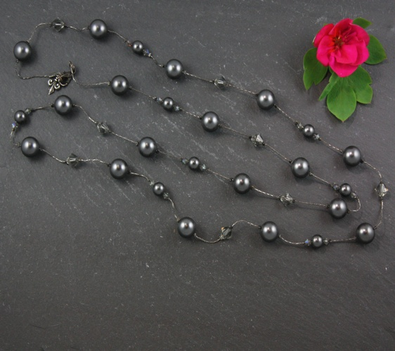 Coco Charcoal Grey Necklace