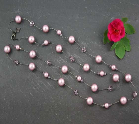 Coco Powder Rose Pink Necklace