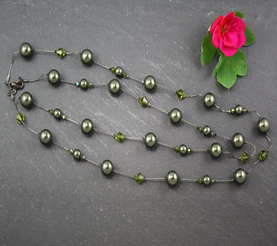 Coco Dark Green Necklace