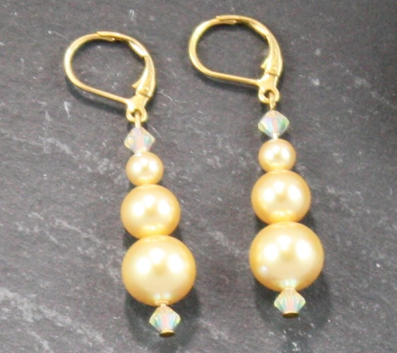 Grace Bight Gold Earrings