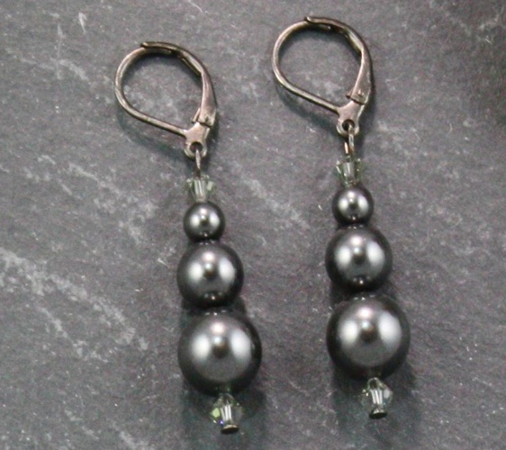 Grace Charcoal Grey Earrings