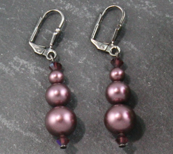 Grace Bordeaux Wine Earrings