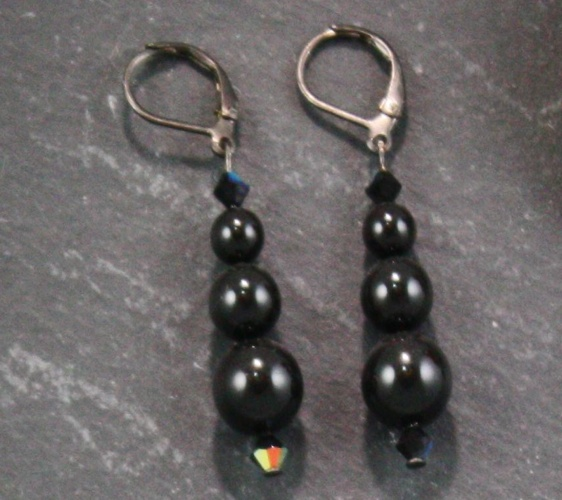 Grace Mystic Black Earrings