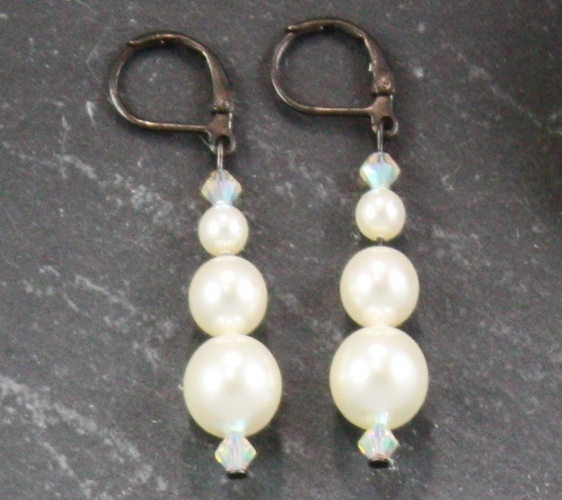 Grace White Earrings
