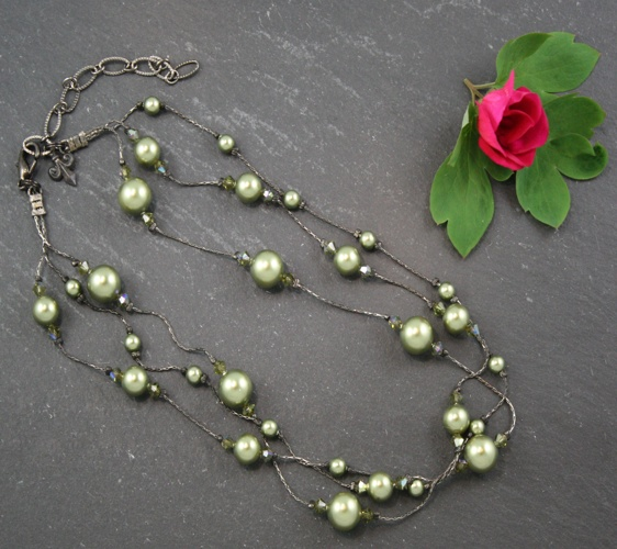 Grace Light Green Necklace