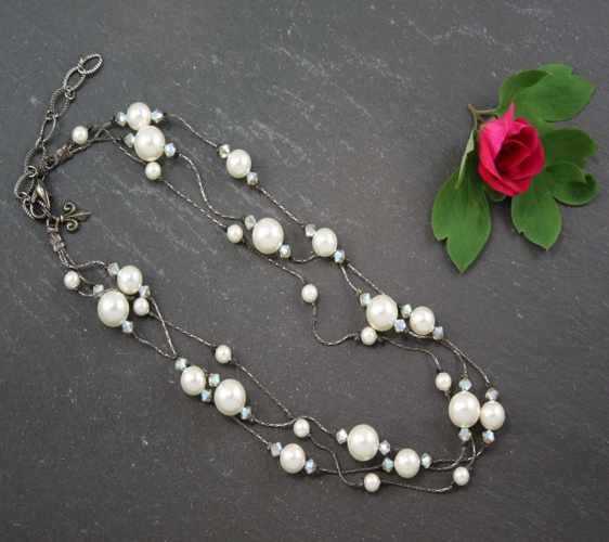 Grace Cream Necklace
