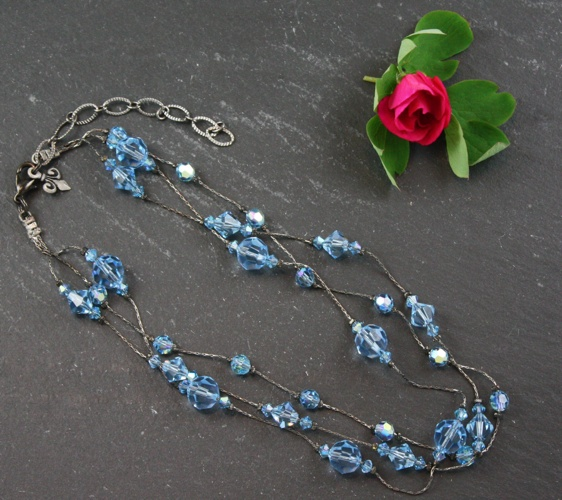 Jackie Aquamarine Light Blue Necklace