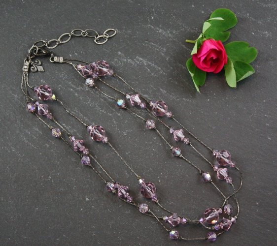 Jackie Light Amethyst Pink Necklace