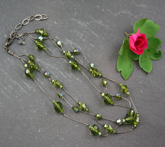 Jackie Olivine Green Necklace