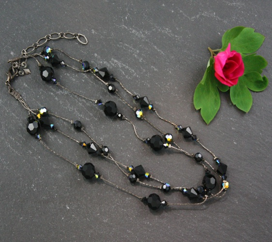 Jackie Jet Black Necklace